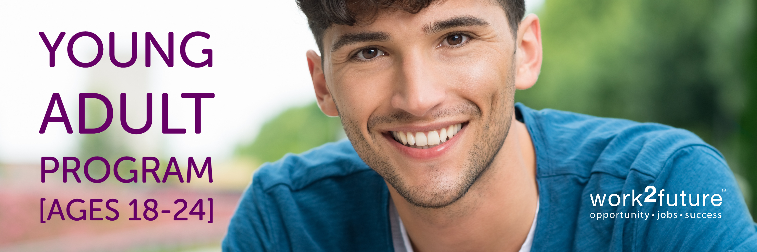 young adult programs image of young man smiling