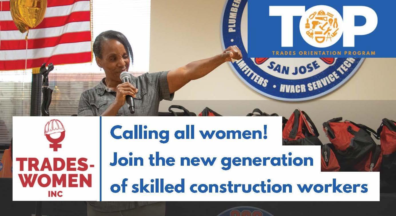 women speaking about women's trades occupations Program
