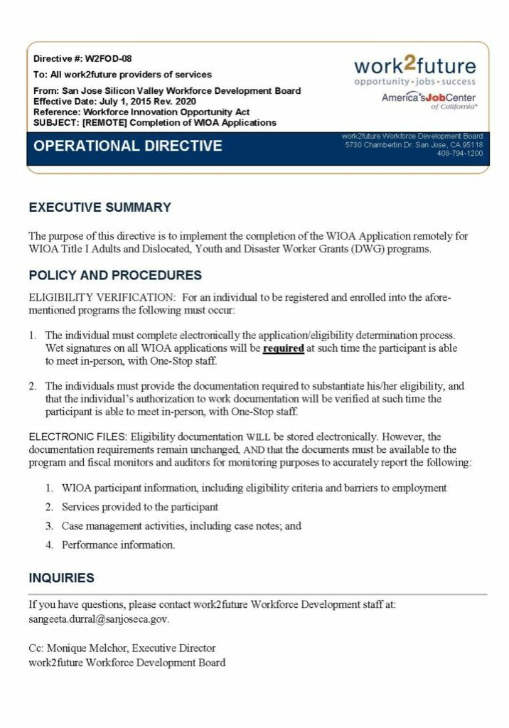 Policy | Application-Remote Completion [rev 2020]