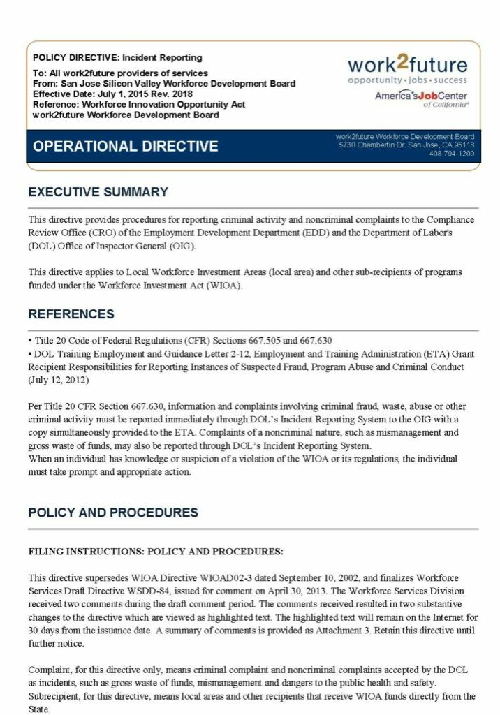 Policy+Procedure | Incident Reporting [rev 2018]