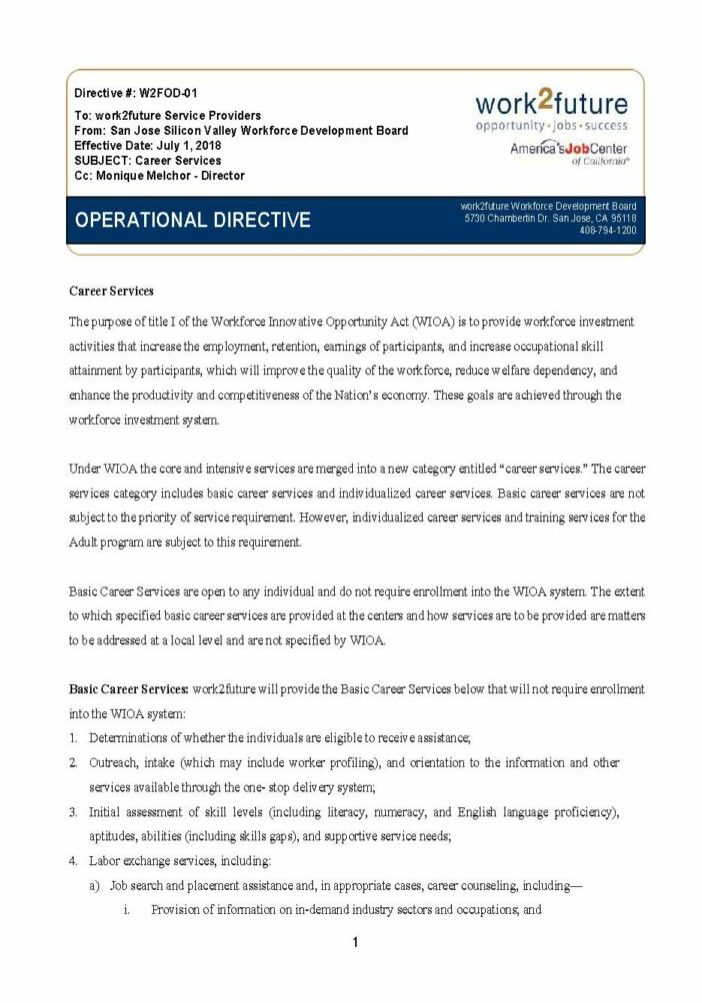 Procedural Guide | Career Services [2018]