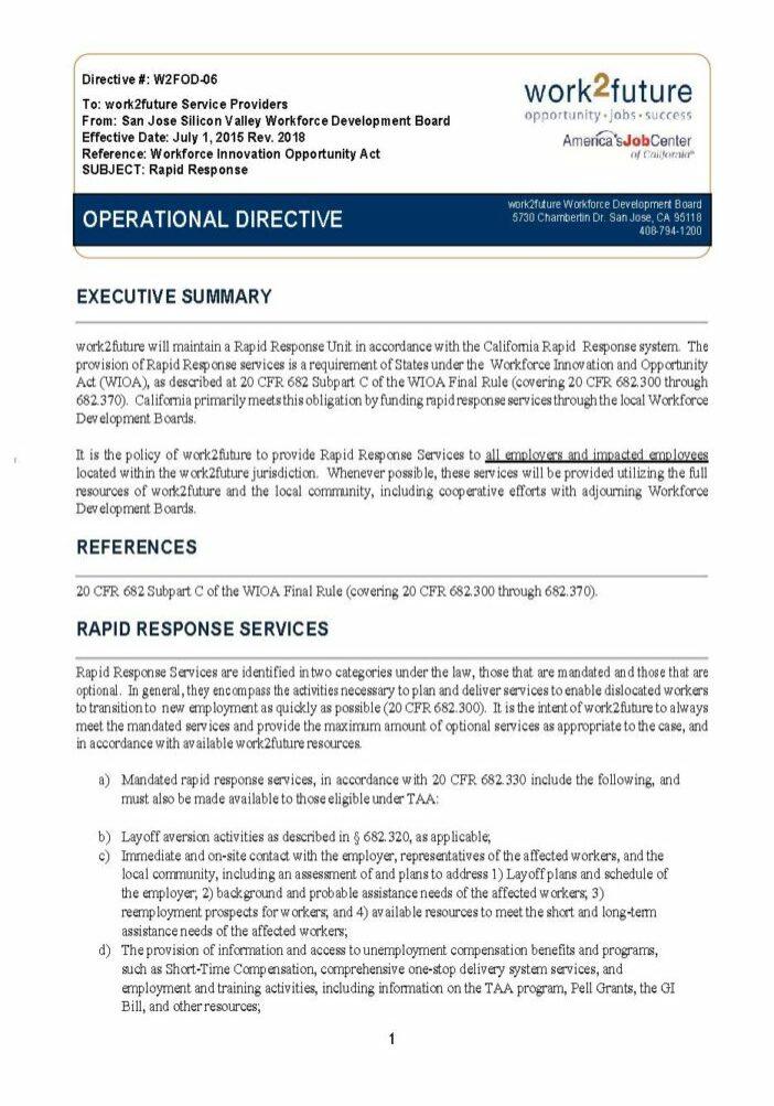 Procedural Guide | Rapid Response [rev 2018]